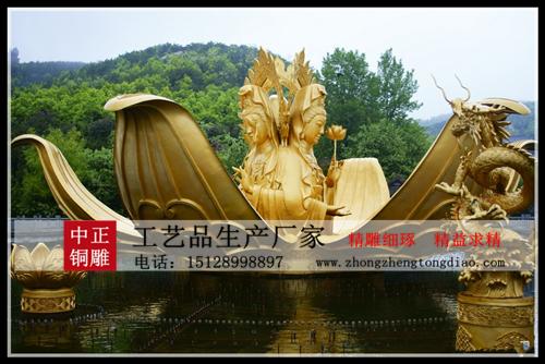 ?三面观音铜像_三面观音銅雕厂家欢迎新老客户来样定做。