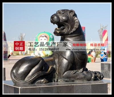 十二生肖老虎銅雕塑图片