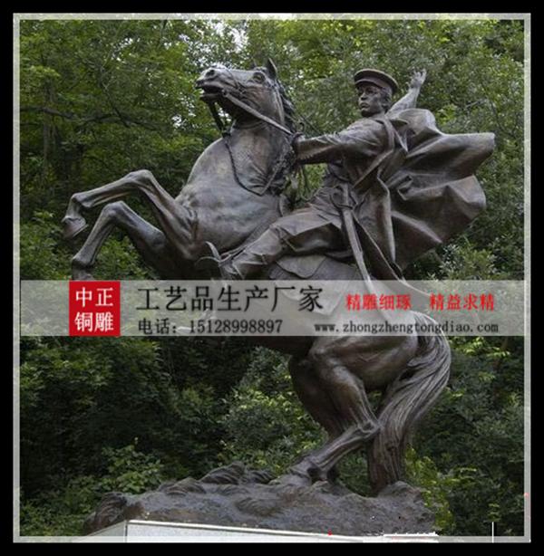 骑马雕塑图片