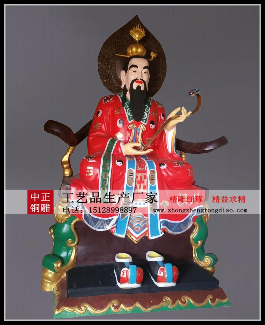 中正銅雕生产厂家专业定做三清师祖铜像 彩绘三清祖师铜像 欢迎各界人士来厂考察。