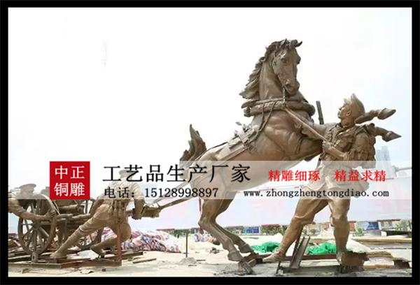 战马雕塑图片_銅雕阿波罗战车欢迎咨询河北中正銅雕生产厂家。
