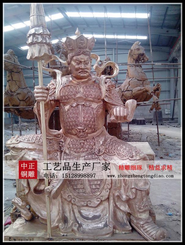 銅雕四大金刚佛像