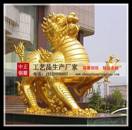 銅雕貔貅是一种猛兽,为古代五大瑞兽之一,称为招财神兽。