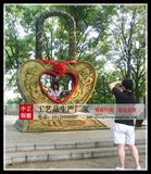 愛情銅鎖雕塑