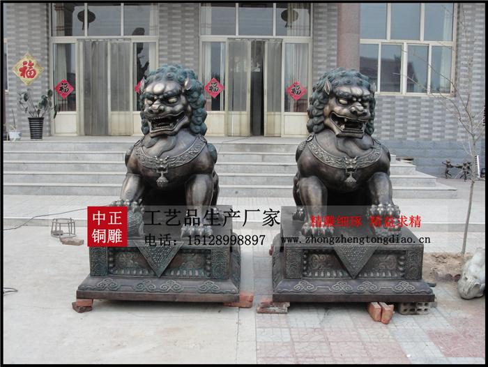 銅獅子_故宮銅獅子_定做銅獅子_彙豐銅獅子_河北中正鑄銅獅子雕塑廠家