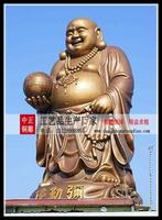 銅雕弥勒佛站像