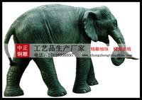 翻新銅雕大象