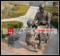 园林人物銅雕塑