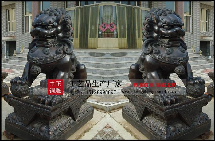 北京銅獅子流傳至今,有被佛教對銅獅子大爲推崇,逐漸被人們視爲辟邪瑞獸,因此銅獅子也成了佛教的代言人紮根于民間,並視爲百獸之王