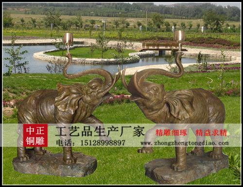 铜大象雕塑厂