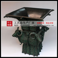青銅四羊方尊雕塑生産廠家