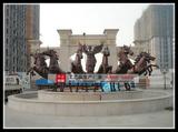 太阳神战车銅雕马动物雕塑