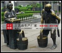 商業街古代人物雕塑