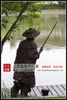 江邊釣魚銅像