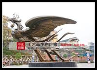 凤凰銅雕塑