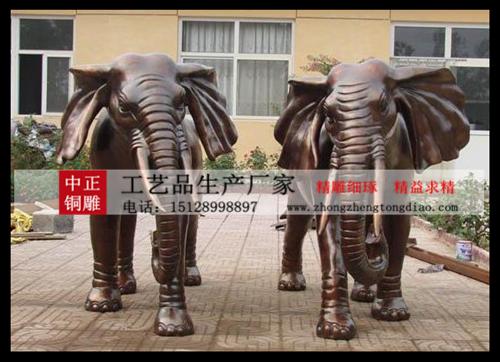 """銅雕大象""""能给人间带来祥瑞,象征天下太平。"""