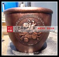 銅大缸雕塑图片