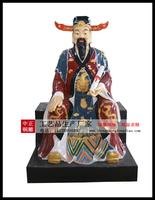 彩繪財神爺銅佛像
