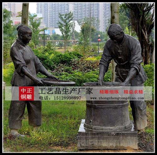 茶文化人物雕塑