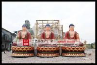 彩绘三世佛銅佛像銅雕彩绘三世佛_铸铜彩绘三世佛-河北中正銅佛像厂家