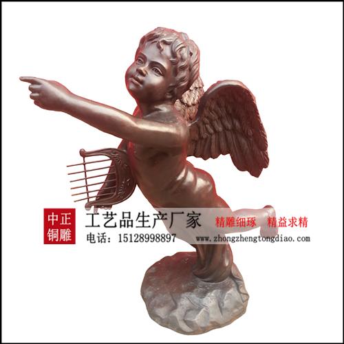 銅雕西方人物_小天使雕塑价格欢迎咨询河北中正銅雕生产厂家。15128998897