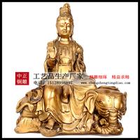 銅雕普贤菩萨像