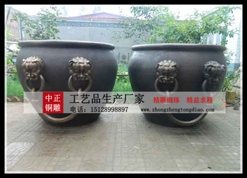 銅大缸雕塑
