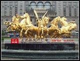 太陽神銅馬動物雕塑景觀雕塑