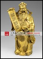 贴金财神銅雕像