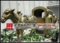 馬拉車雕塑