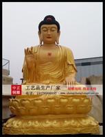 铸銅雕塑三世佛銅像