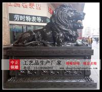 定制銅獅子_商业定制銅獅子_定制镇宅銅獅子-河北中正銅雕狮子定做厂家