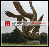 定做凤凰銅雕塑