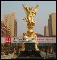 小區歐式人物勝利女神景觀雕塑