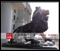 定做銅獅子_铸铜銅獅子_销售銅獅子-河北中正銅雕狮子厂家直销