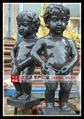 撒尿小孩銅雕