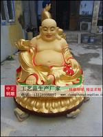 彩绘彌勒佛銅像