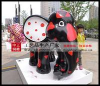 商業街玻璃鋼大象雕塑