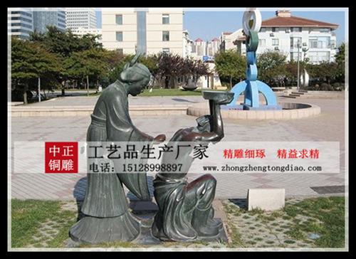 铜雕岳母刺字雕塑
