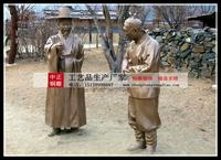 朝鮮特色人物雕塑