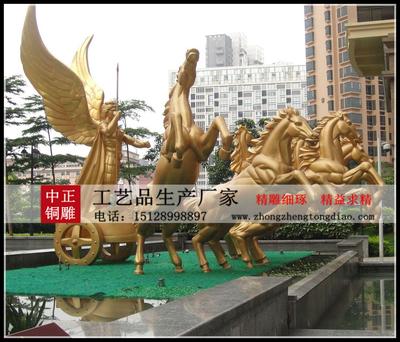 太阳神战车景觀雕塑制作銅雕厂家